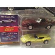 Johnny Lightning Classics Customs Corvettes: 1982 Corvette T-Top & 1965 Mako Shark