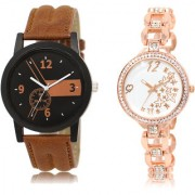 The Shopoholic Black Brown White Combo Fashionable Funky Look Black And Brown And White Dial Analog Watch For Boys And Girls Watches For Girls Stylish