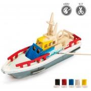 3D Puzzle De Pintura Forma De Bote Salvavidas