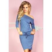 numoco Dámské šaty 13-20 světle modrá džínovina XL