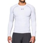Under Armour HeatGear Compressie shirt - Heren lange mouwen (Wit)