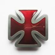 Hebilla cruz de hierro roja