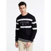 Guess Sweater Logo Voorkant - Zwart - Size: Extra Large