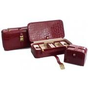 Caseta bijuterii cu mini caseta pentru voiaj Maro si Rosu