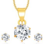Sukkhi Graceful Gold Plated CZ Pendant Set For Women