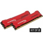 Memorie HyperX Savage 8GB Kit 2x4GB DDR3 1600MHZ CL9 Red
