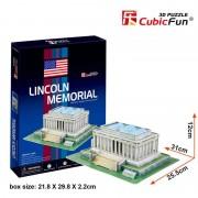 Cubicfun Monumentul lui Lincoln Washington SUA Puzzle 3D 41 de piese