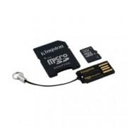 16GB microSDHC, с SD адаптер, с USB четец за карти Kingston, Class 10 UHS-I, скорост на четене 10MB/s, скорост на запис 10MB/s