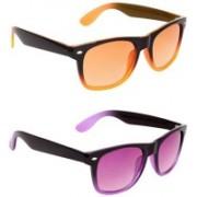 David Martin Wayfarer Sunglasses(Orange, Violet)