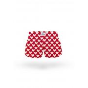 ELKA Underwear Dětské trenky ELKA červená velká srdíčka (B0017) 110