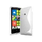 Силиконов гръб ТПУ S-Line за Nokia Lumia 625 Бял
