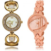 The Shopoholic White Rose Gold Combo Treny and Precious White And Rose Gold Dial Analog Watch For Girls Watches For Women Diamond