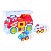 Masinuta de pompieri Vroom Vroom Little Learner, 12 luni+
