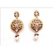 Indian Style Beaded Dangle Drop Fashionable Earrings Traditional Jhumka Jhumki Earrings for Women 11 MAROON