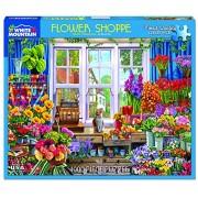 White Mountain Puzzles Flower Shop - 1000 Piece Jigsaw Puzzle
