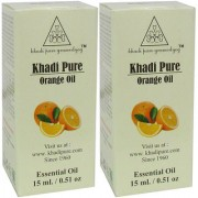 Khadi Pure Herbal Orange Essential Oil - 15ml (Set of 2)