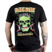 utcai póló férfi - Frankie - BLACK HEART - Frankie - Black
