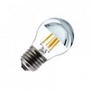 efectoled.com Bombilla LED E27 Regulable Filamento Chrome Reflect Small Classic G45 3.5W Blanco Cálido