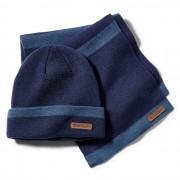 Timberland Coffret Cadeau Bonnet Et Écharpe À Larges Rayures Pour Homme En Bleu Bleu, Taille TAILLE UNIQUE