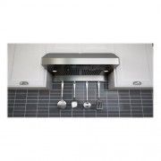 "Zephyr - Essentials Power Gust Pro-Style 36"" Convertible Range Hood - Stainless steel"