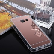 Samsung Galaxy A5 Case, (2017) Acrylic + TPU Electroplating Mirror Protective Back Cover Case (Rose Gold)