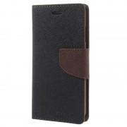 Bolsa Tipo Carteira Mercury Goospery Fancy Diary para iPhone 6, iPhone 6S - Preto/Castanho