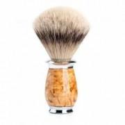 Pamatuf Silvertip Badger cu par de bursuc si maner din lemn de mesteacan karelian 091 H 55