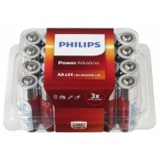 Philips batterijen AA Power Alkaline zilver/rood 24 stuks