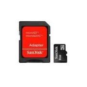 Cartão De Memória Sandisk Microsdhc Com Adaptador 8gb Sdsdqm-008g -b35a