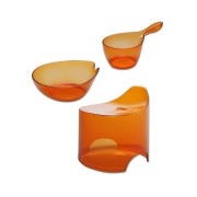 【33%OFF】デュロー クリアカラー バスルーム3点セット オレンジ オレンジ キッチン・生活雑貨・日用品 > 暮らし~~その他