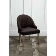 My-Furniture Chaise d'appoint tapissé KARISS Noire