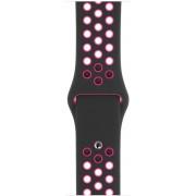 Curea Smartwatch Apple Nike Sport Band pentru Apple Watch 40mm (Negru/Roz)