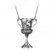 Lantisor Cu Pandantiv Cupa Helga Hufflepuff Horcrux Argintiu