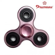 Premsons Fidget Spinner Metal Aluminium Hand Spinner Four Bearing Ultra Speed Tri-Spinner Toy - Metallic Pink