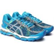 Asics GEL-KAYANO 22 LI Running Shoes For Men(Black, Blue)