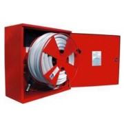 Cutie hidrant interior AURAS AT 25 – cu usa cu sticla – rosie – complet echipata