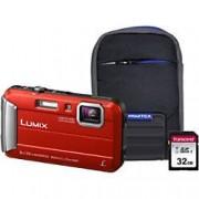 Panasonic Digital Camera Lumix DMC-FT30 16.1 Megapixel Red + 32GB SD Card + Case