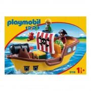 Playmobil Barco Pirata Playmobil 1.2.3 8 Piezas
