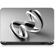 VI Collections WHITE WITH BALCK SPINNER pvc Laptop Decal 15.6