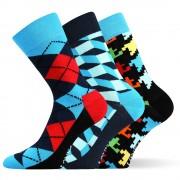 Woodoo MixB divatos zokni 3 pár egy csomagban