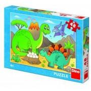 Puzzle - Dinozauri prietenosi - 48 piese