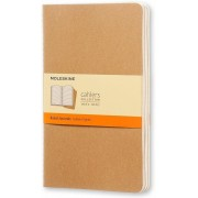 Moleskine Quaderno Cahier Journal large a righe beige. Kraft Brow...