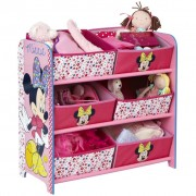 Disney Minnie Mouse 6-Bin Storage Box 64x30x60 cm Pink OPBE119100