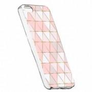 Husa Silicon Transparent Slim Mozaic 94 Apple iPhone 5 5S SE