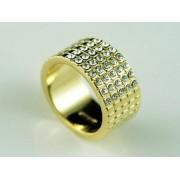 Swarovski kristályos gyűrű, arany színű 065-7