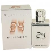 24 Platinum Oud Edition by ScentStory Eau De Toilette Concentree Spray (Unisex) 3.4 oz