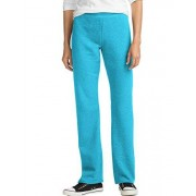 Hanes Petite Open Bottom Pantalón Deportivo para Mujer, Azul, Jaspeado (Bold Blue Heather), XXL