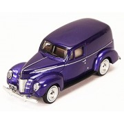 Motor Max 1940 Ford Sedan Delivery, Purple - Motormax 73250P 1/24 Scale Diecast Model Car
