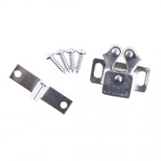 ELECTROPRIME Silver Roller Catch Cupboard Cabinet Door Latch Twin Double Catches & Screws