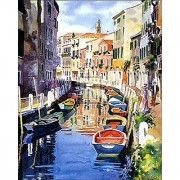 The Smallest 1000 piece puzzle in the world. 12X18 Venetian Reflections II